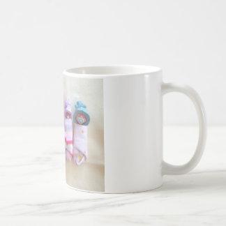 Clay Babies, Elf Hats, Sleeping, Swaddled, Cute Coffee Mug