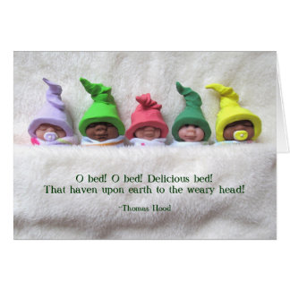 Clay Babies: Sleepy Heads, Quote by Thomas Hood Card