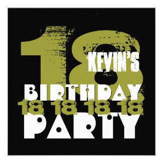 187 Boys 18th Birthday Invitations