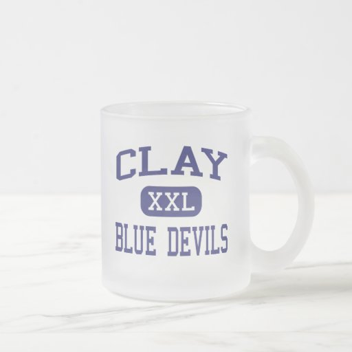 Clay - Blue Devils - High - Green Cove Springs 10 Oz Frosted Glass Coffee Mug