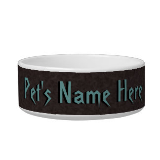 Clay Brown Banded Pet Bowl