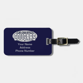 Clay-Chalkville High School; Cougars Luggage Tag