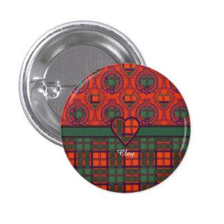 Clay clan Plaid Scottish kilt tartan Buttons
