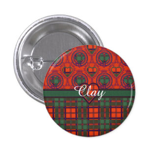 Clay clan Plaid Scottish kilt tartan Pins