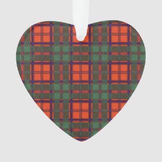 Clay clan Plaid Scottish kilt tartan Ornament