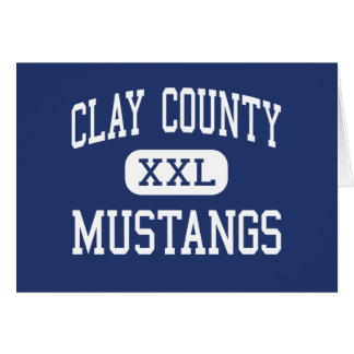 Clay County Mustangs Middle Clay Card