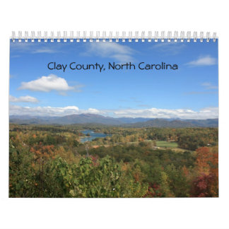 Clay County, North Carolina Calendar