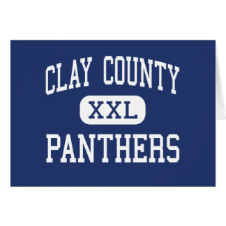 Clay County - Panthers - High - Clay West Virginia Greeting Card
