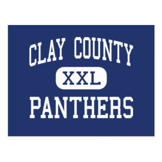 Clay County - Panthers - High - Clay West Virginia Post Cards