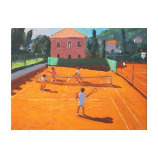 Clay Court Tennis Lapad Croatia 2012 Canvas Print