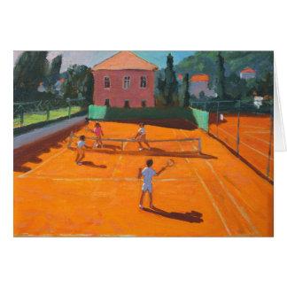 Clay Court Tennis Lapad Croatia 2012 Greeting Card