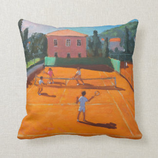Clay Court Tennis Lapad Croatia 2012 Throw Pillow