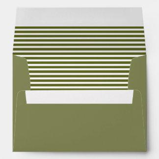 Clay Creek Yellow Striped Envelope
