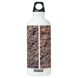 Clay Dry Soil Texture Aluminum Water Bottle