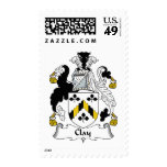 Clay Family Crest Postage Stamps