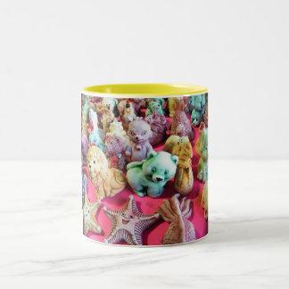 Clay Figurines Two-Tone Coffee Mug
