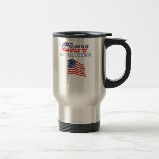 Clay for Congress Patriotic American Flag Travel Mug