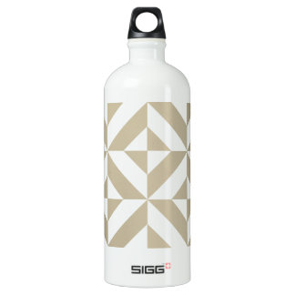 Clay Geometric Deco Cube Pattern Aluminum Water Bottle