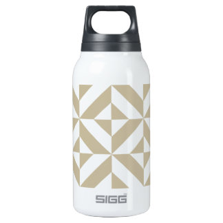 Clay Geometric Deco Cube Pattern Insulated Water Bottle