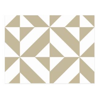 Clay Geometric Deco Cube Pattern Postcard