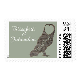Clay Hearted Owl Wedding Postage