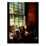 Clay Jars on Windowsill Postcards