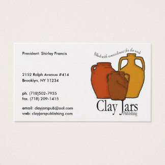 Clay Jars Publishing Business Card