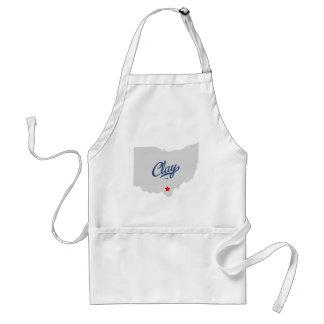 Clay Ohio OH Shirt Adult Apron