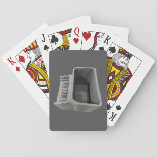 Clay Piano Pot on Dark Gray Playing Cards