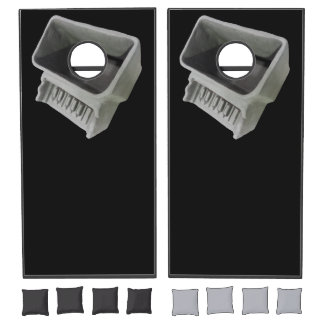 Clay Piano Pot Photo on Black Background Cornhole Set