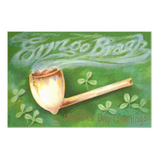 Clay Pipe Smoke Shamrock Photo Print