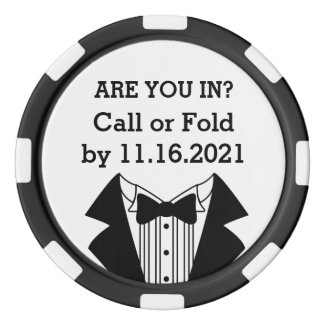 Clay Poker Chip Best Man or Groomsman Invite