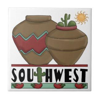 Clay Pottery, Cactus Plants, Chilis - Southwest zazzle_tile