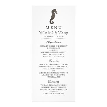 Beach Themed Clay Seahorse Beach Wedding Menu