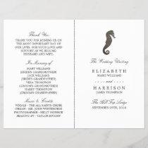 Clay Seahorse Beach Wedding Program