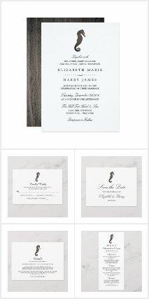 Clay Seahorse Wedding Collection