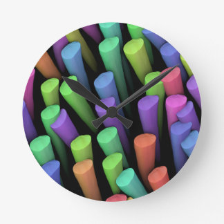 Clay Sticks - Round Clock