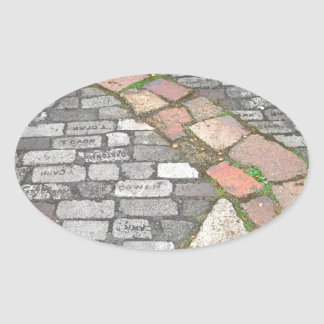 Clay Stone Path Oval Sticker