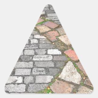 Clay Stone Path Triangle Sticker