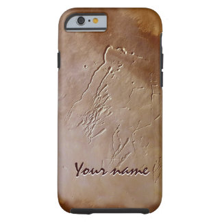 Clay stucco scratched hand-made iPone case
