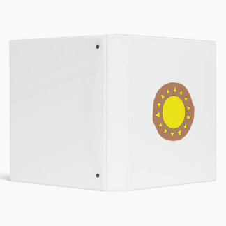 Clay Sun Symbol 3-Ring Binder