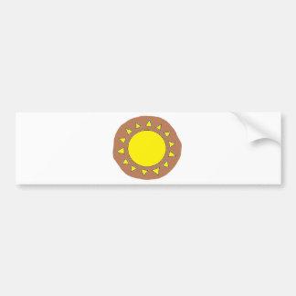 Clay Sun Symbol Bumper Sticker