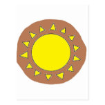 Clay Sun Symbol Post Cards