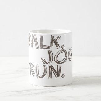 CLAY WALK JOG RUN (font SCRIBBLE) Coffee Mug