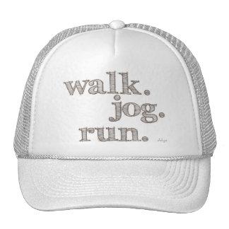 CLAY WALK JOG RUN (font SHADED) Trucker Hat
