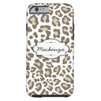 Clay/White Animal Print Custom iPhone 6 Case
