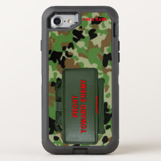 CLAYMOORE MINE (Front Toward Enemy) OtterBox Defender iPhone 8/7 Case