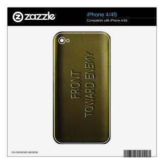 Claymore Mine Iphone skin Mk II Decals For iPhone 4S