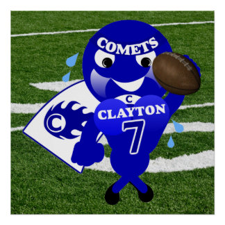 Clayton Comets Football Poster