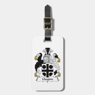 Clayton Family Crest Tag For Luggage